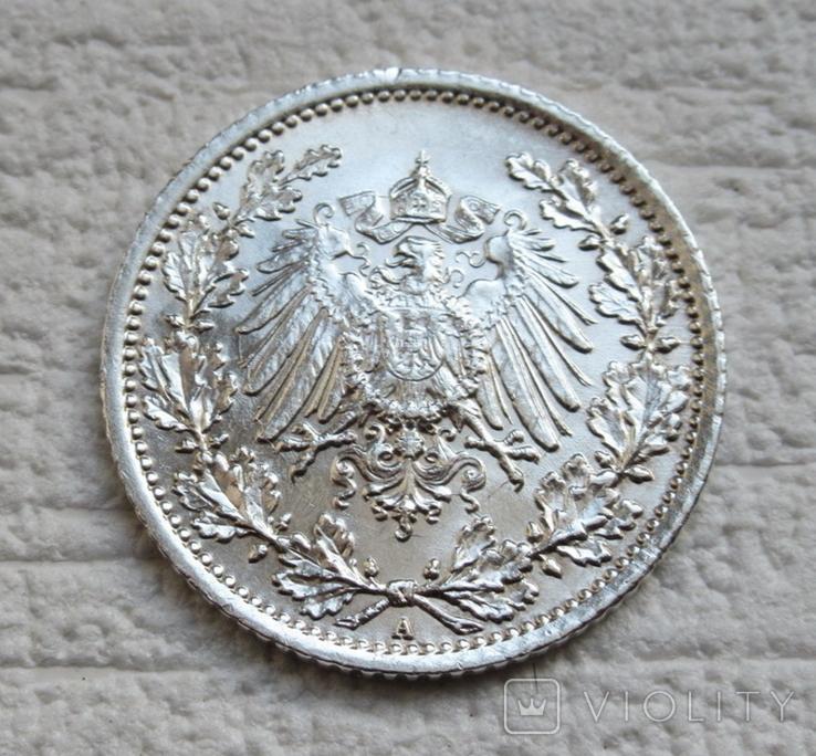 1/2 марки 1917 г. (А) Германия, серебро, фото №13