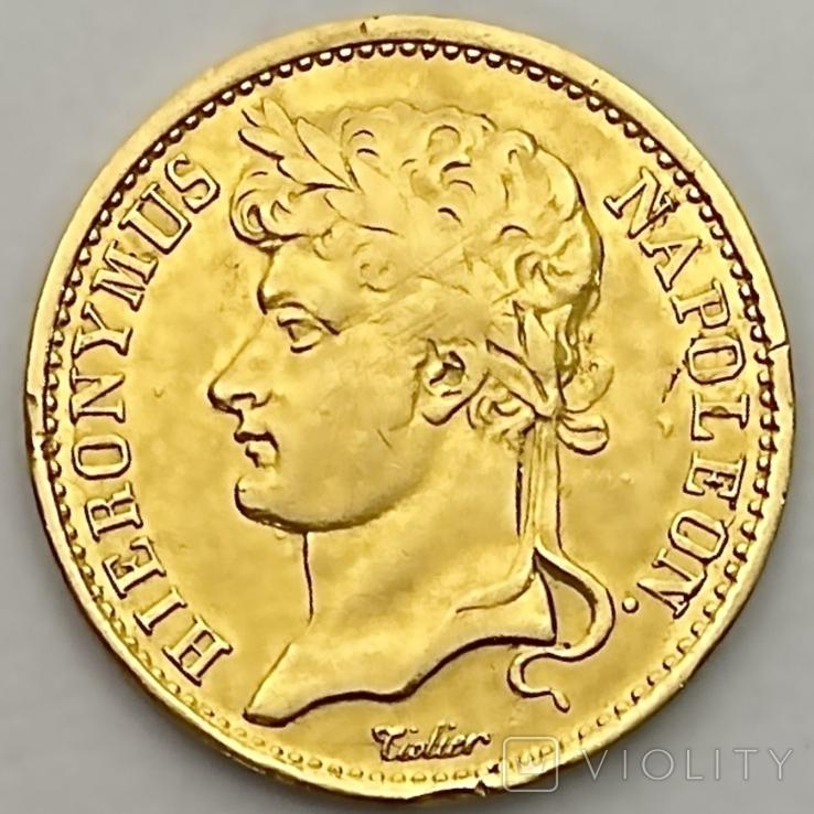 20 франков. 1809. Вестфалия. Германия (золото 900, вес 6,38 г), фото №2