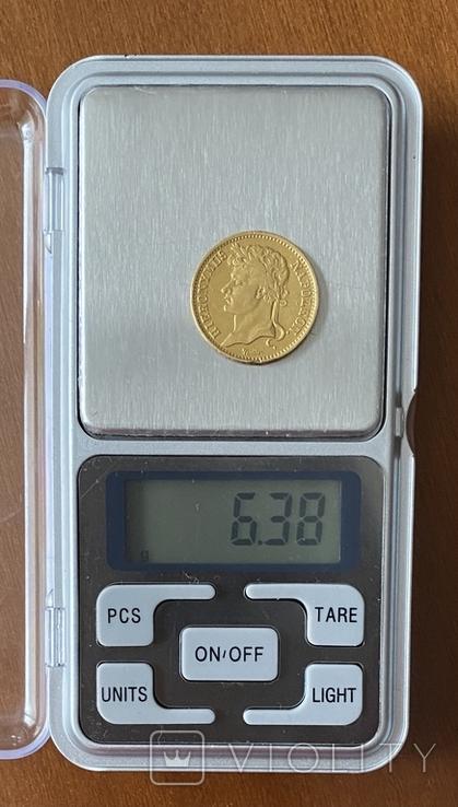 20 франков. 1809. Вестфалия. Германия (золото 900, вес 6,38 г), фото №4