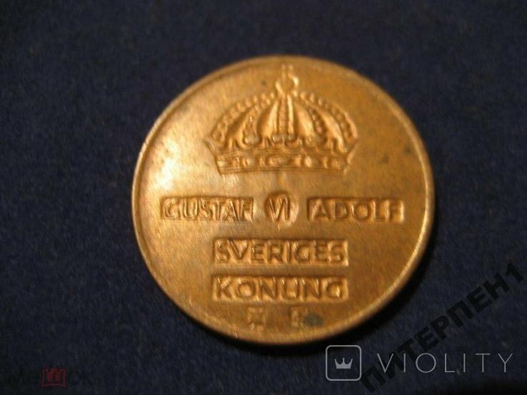 Швеция 2 эре 1955 TS, фото №3