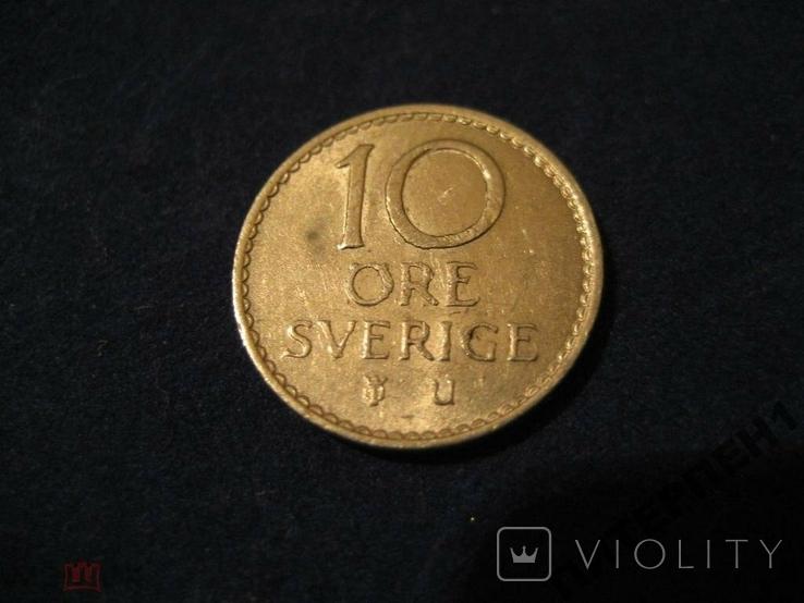Швеция 10 эре 1965 U, фото №2