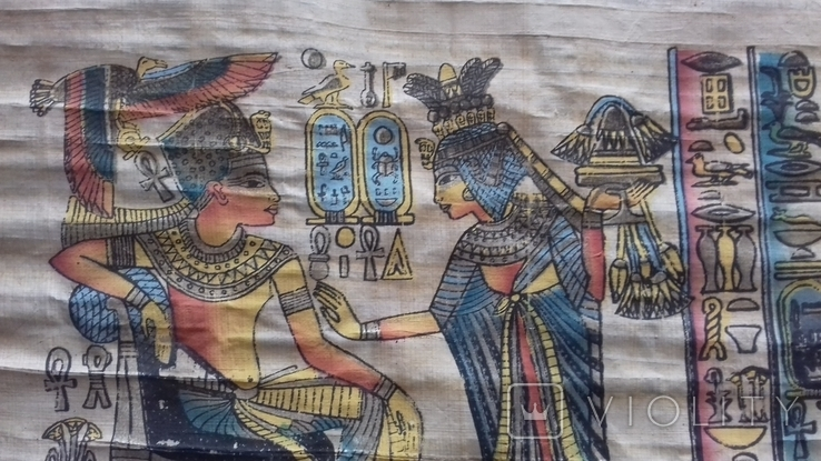 Жанрова сцена на папірусі Єгипет річна робота, фото №4
