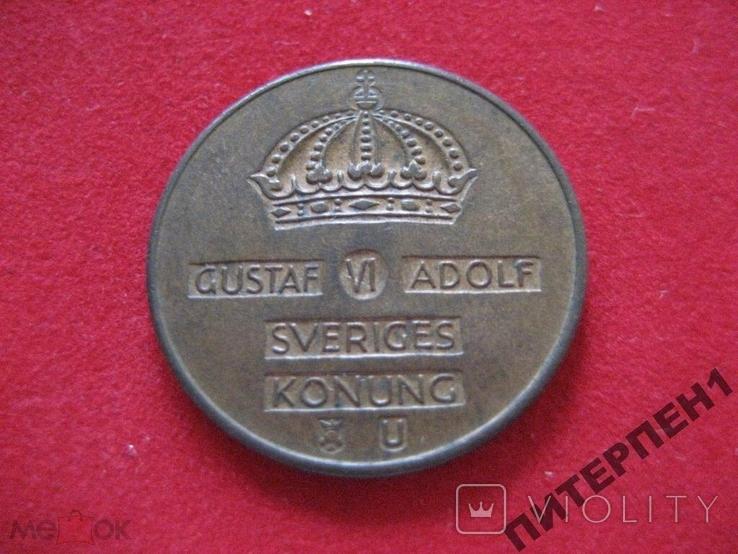 Швеция 2 эре 1970 U, фото №3