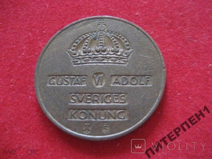 Швеция 2 эре 1953 TS, фото №3