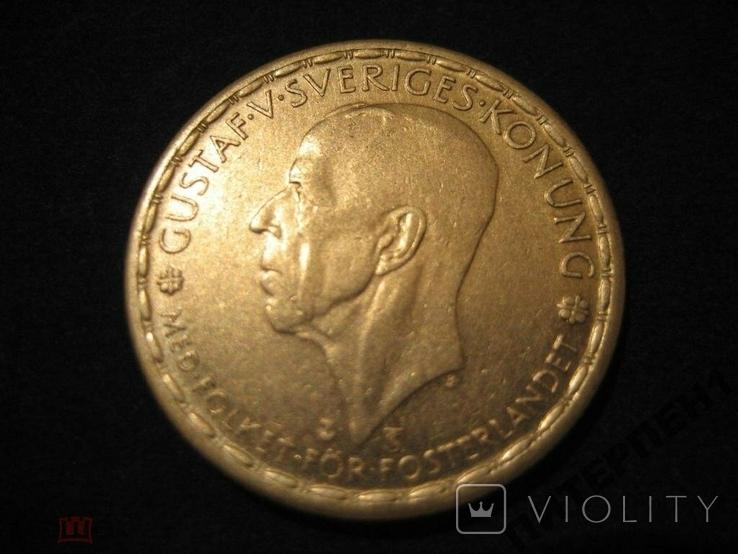 Швеция 1 крона 1950 TS, фото №2