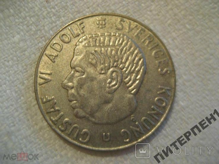Швеция 1 крона 1961 U, фото №2