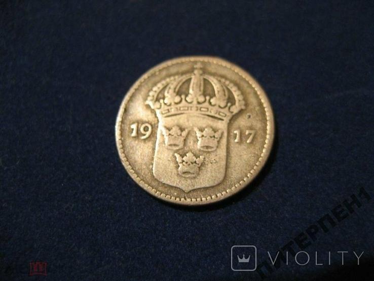 Швеция 10 эре 1917 W, фото №3