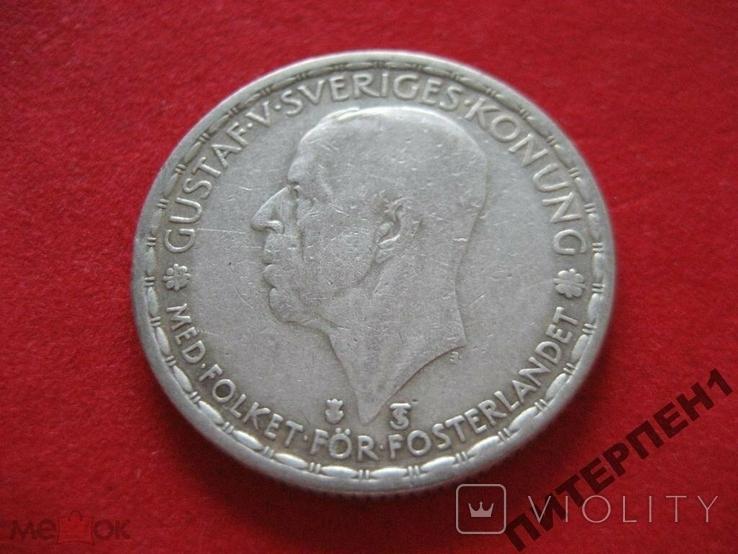 Швеция 1 крона 1948 TS, фото №2