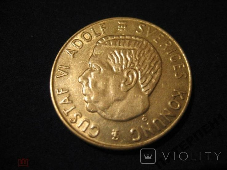 Швеция 1 крона 1960 TS, фото №2