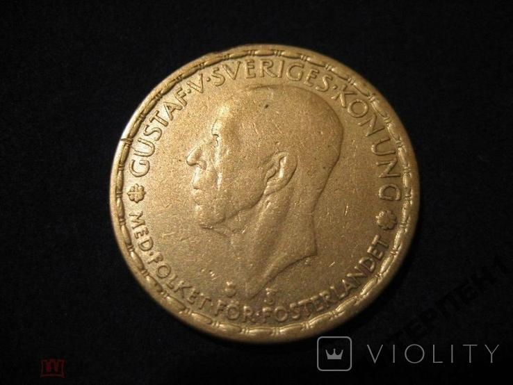 Швеция 1 крона 1947 TS, фото №2