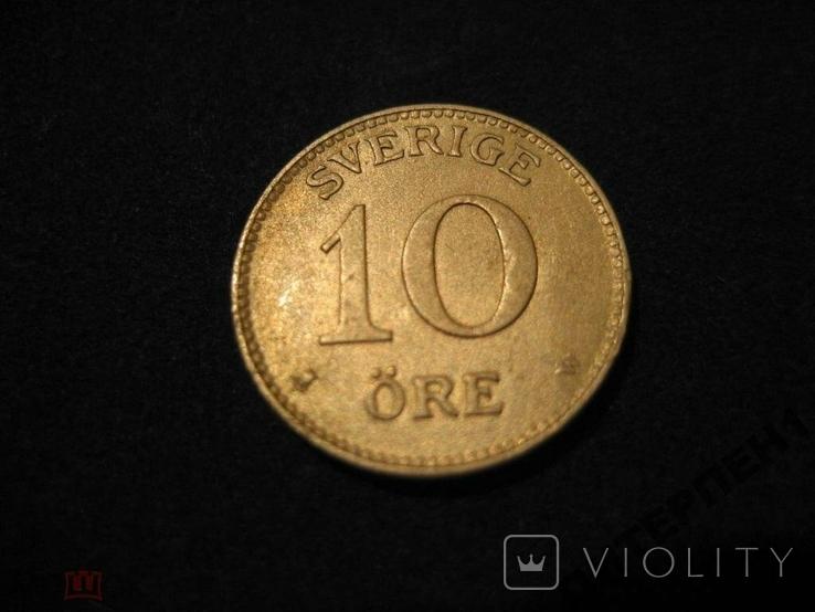 Швеция 10 эре 1911 W, фото №2