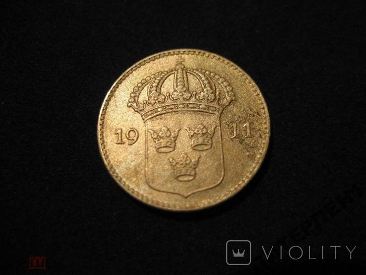 Швеция 10 эре 1911 W, фото №3