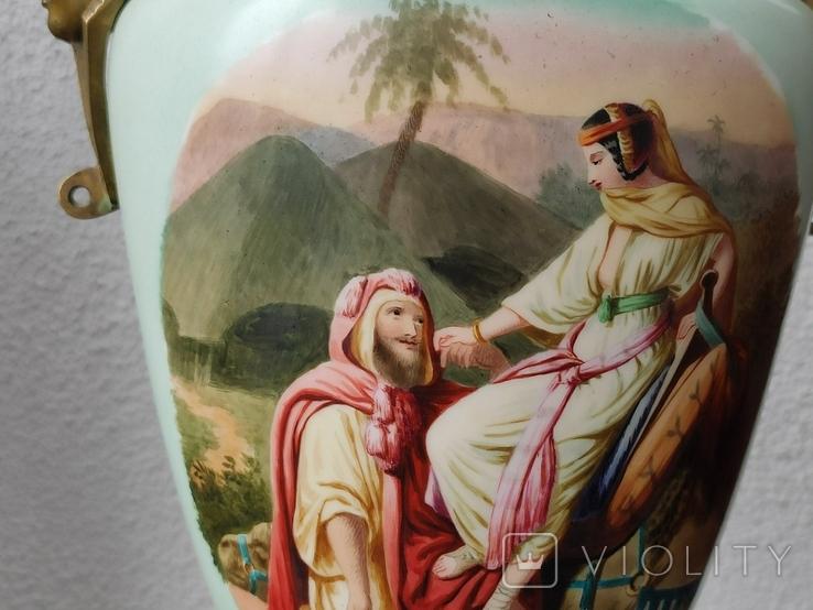 """Керосиновая лампа """"Египет"""" Королевская фарфоровая мануфактура в Берлине., фото №4"""