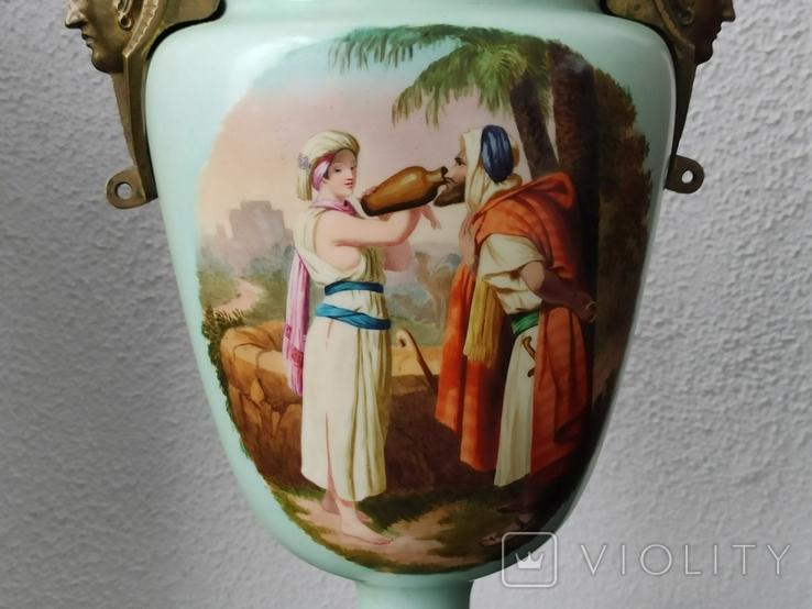"""Керосиновая лампа """"Египет"""" Королевская фарфоровая мануфактура в Берлине., фото №6"""