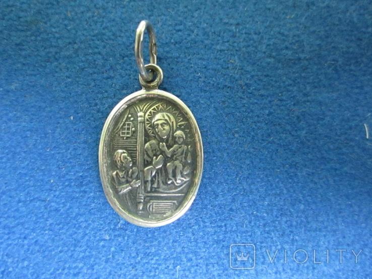 Кулончик-иконка серебро., фото №2