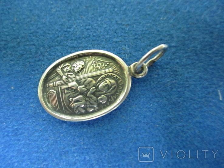 Кулончик-иконка серебро., фото №4