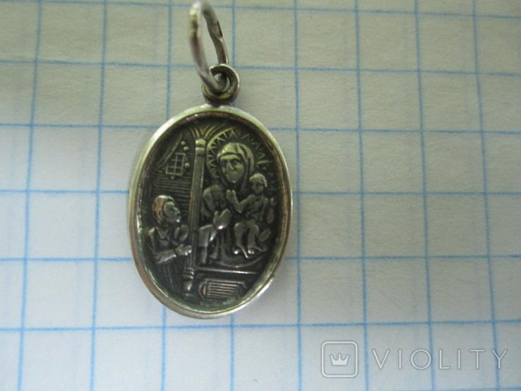 Кулончик-иконка серебро., фото №6
