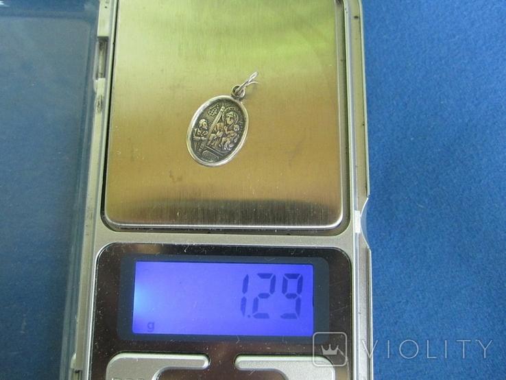 Кулончик-иконка серебро., фото №8