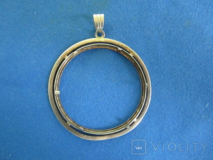 Кулон под монету из серебра(дукач)., фото №4