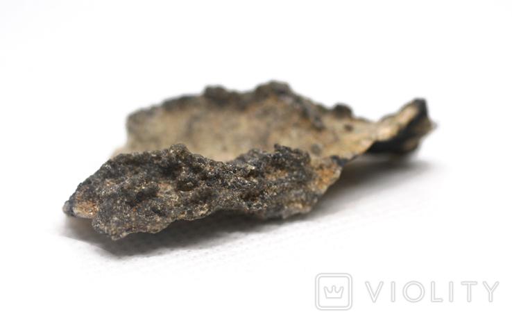 Фрагмент фульгурита, 3,2 грам, з сертифікатом автентичності, фото №5
