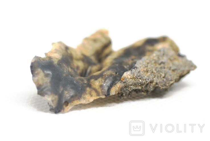 Фрагмент фульгурита, 3,2 грам, з сертифікатом автентичності, фото №6