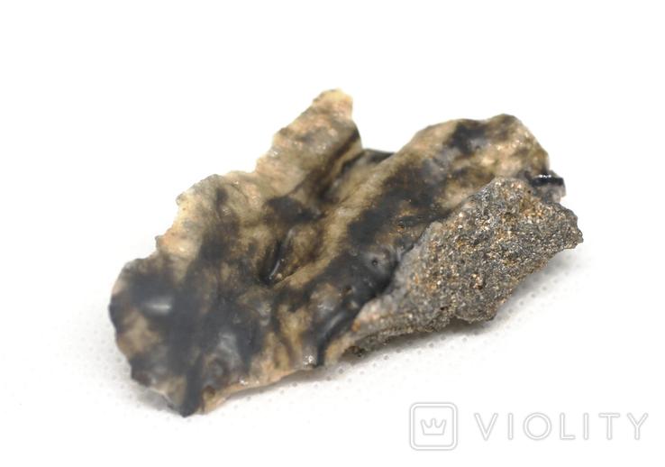 Фрагмент фульгурита, 3,2 грам, з сертифікатом автентичності, фото №7