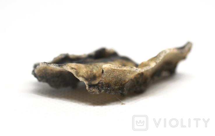 Фрагмент фульгурита, 3,2 грам, з сертифікатом автентичності, фото №8