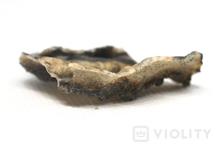 Фрагмент фульгурита, 3,2 грам, з сертифікатом автентичності, фото №9
