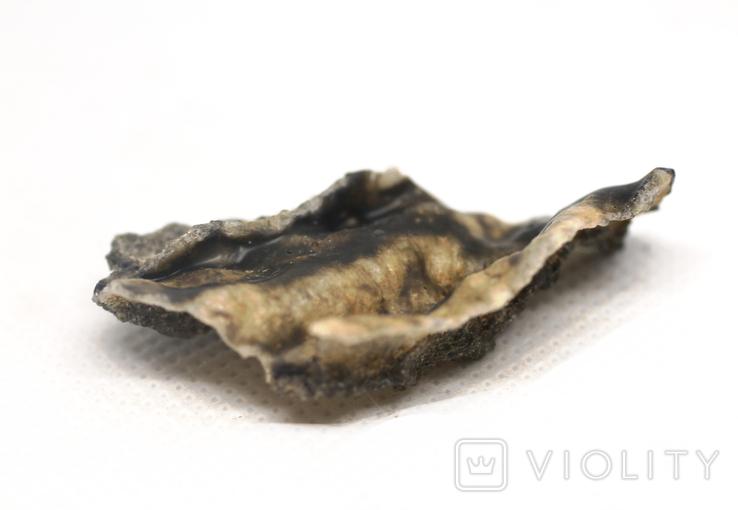Фрагмент фульгурита, 3,2 грам, з сертифікатом автентичності, фото №10