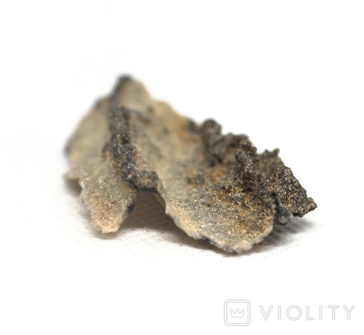Фрагмент фульгурита, 3,2 грам, з сертифікатом автентичності, фото №12