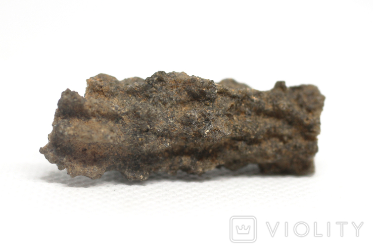 Фрагмент фульгурита, 3,1 грам, з сертифікатом автентичності, фото №5
