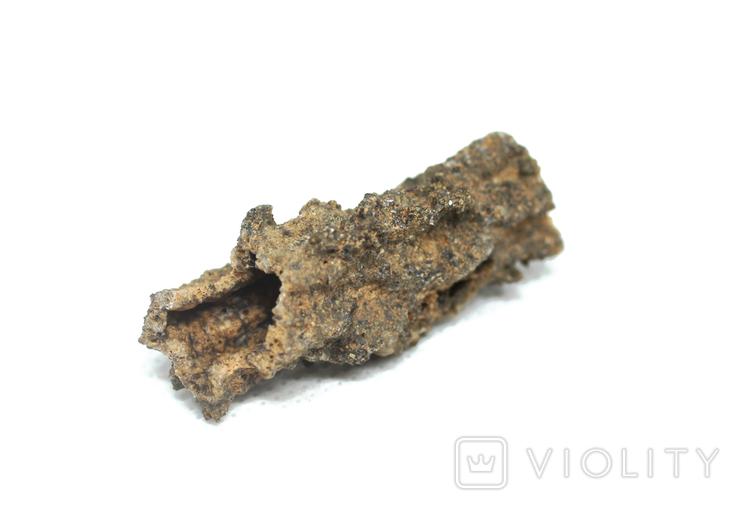 Фрагмент фульгурита, 3,1 грам, з сертифікатом автентичності, фото №9
