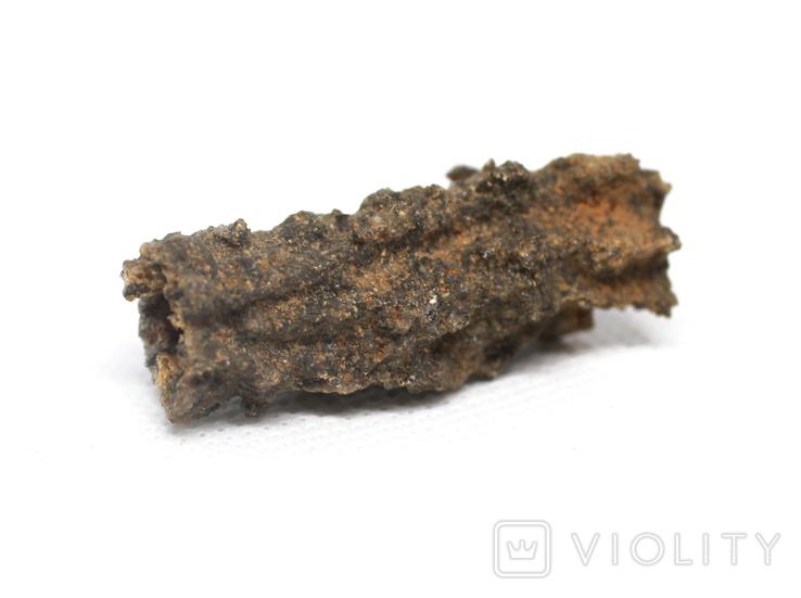Фрагмент фульгурита, 3,1 грам, з сертифікатом автентичності, фото №11