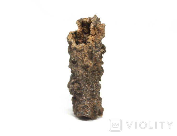 Фрагмент фульгурита, 3,1 грам, з сертифікатом автентичності, фото №12