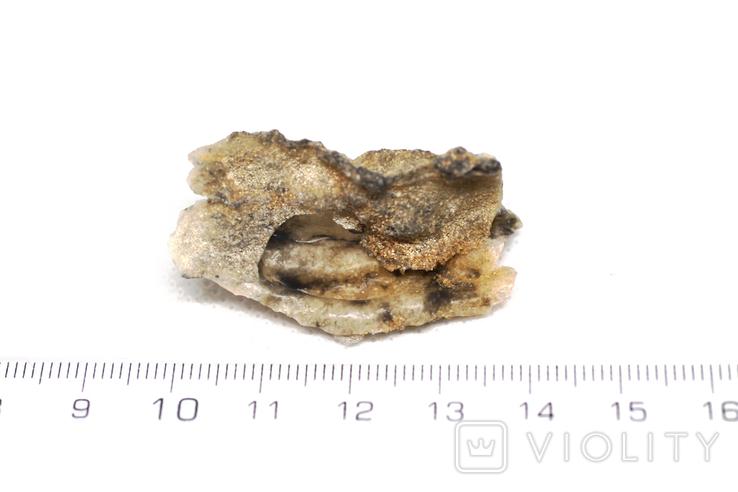 Фрагмент фульгурита, 3,6 грам, з сертифікатом автентичності, фото №4