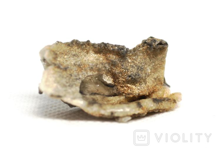 Фрагмент фульгурита, 3,6 грам, з сертифікатом автентичності, фото №2
