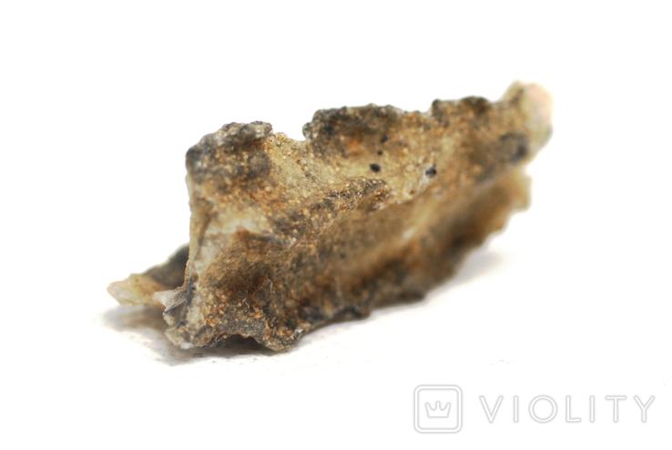 Фрагмент фульгурита, 3,6 грам, з сертифікатом автентичності, фото №5