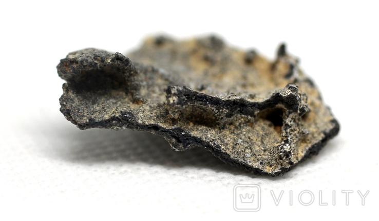 Фрагмент фульгурита, 2,0 грам, з сертифікатом автентичності, фото №6