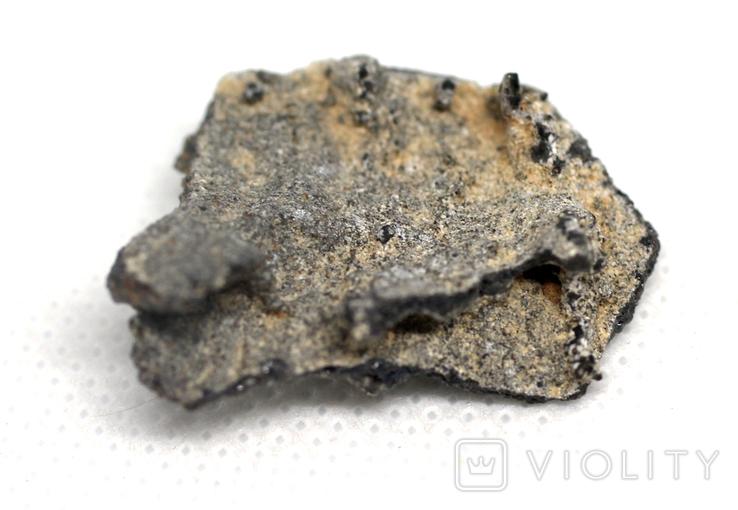 Фрагмент фульгурита, 2,0 грам, з сертифікатом автентичності, фото №7
