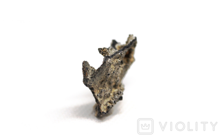 Фрагмент фульгурита, 2,0 грам, з сертифікатом автентичності, фото №2