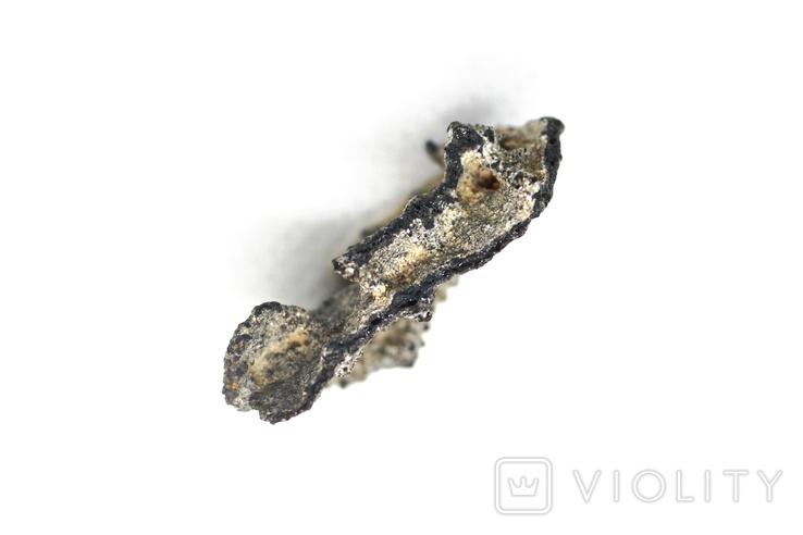 Фрагмент фульгурита, 2,0 грам, з сертифікатом автентичності, фото №11