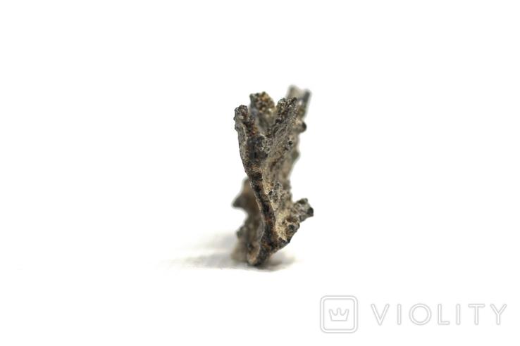 Фрагмент фульгурита, 2,0 грам, з сертифікатом автентичності, фото №12