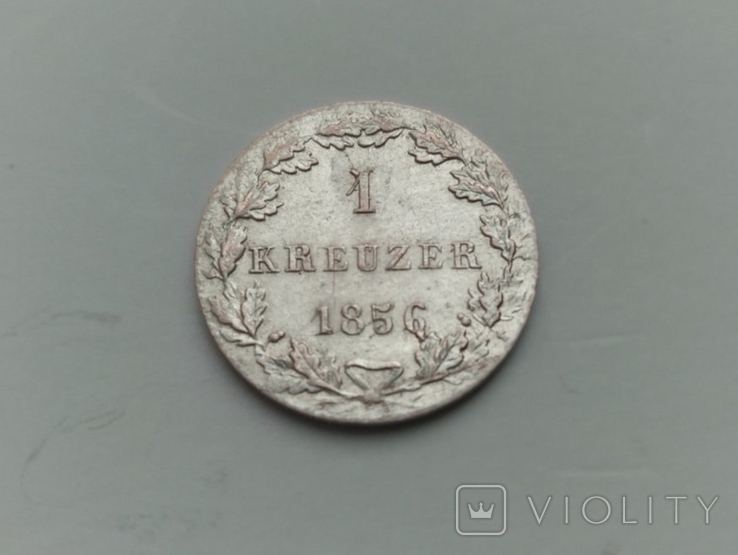 Крейцер 1856 Франкфурт, фото №3