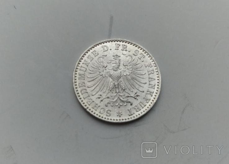 Крейцер 1863 Франкфурт, фото №2