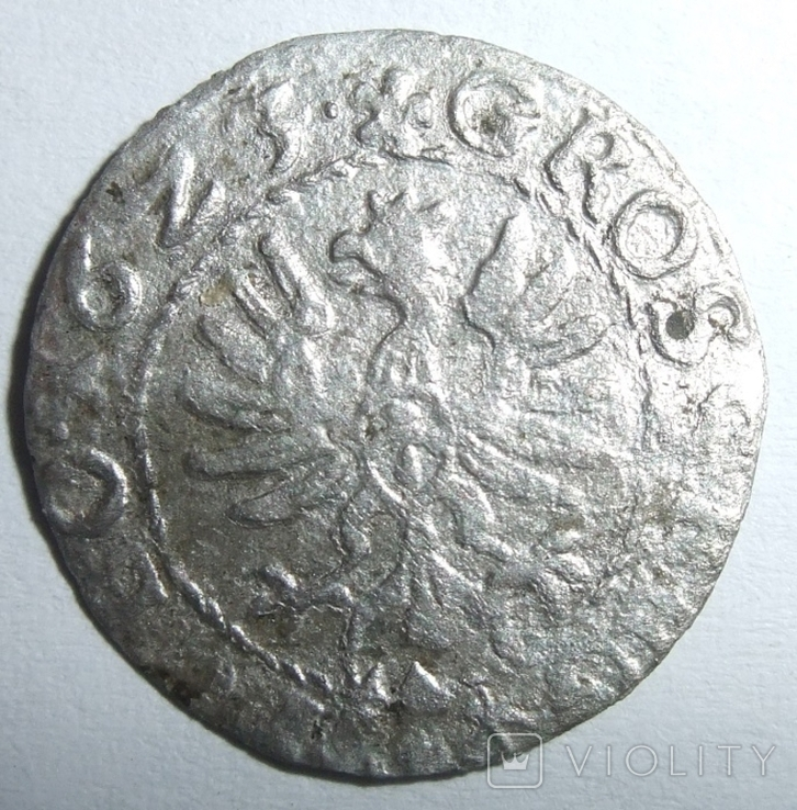 Коронный грош 1623 года. Сигизмунд ІІІ Ваза, фото №2