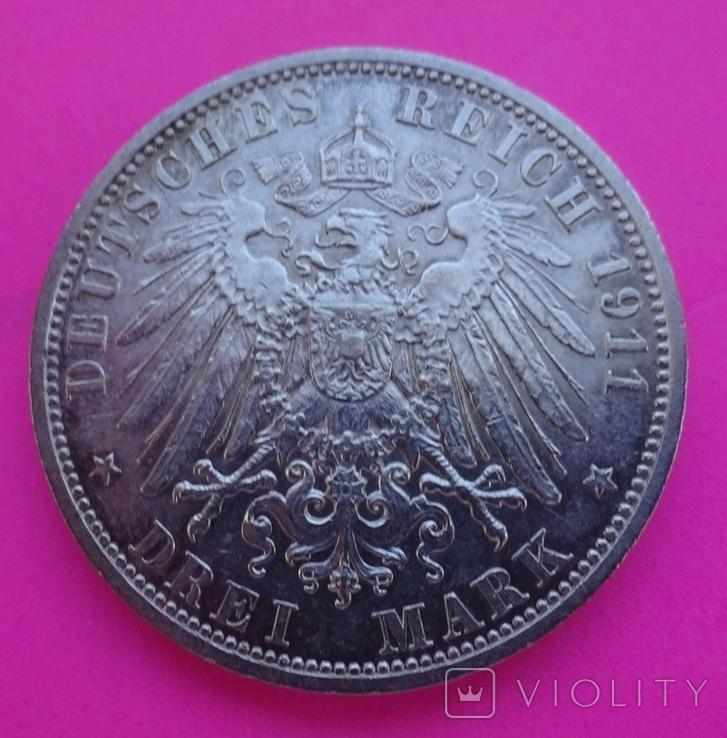 3 марки, Шамбург-Липпе. 1911 год., фото №6