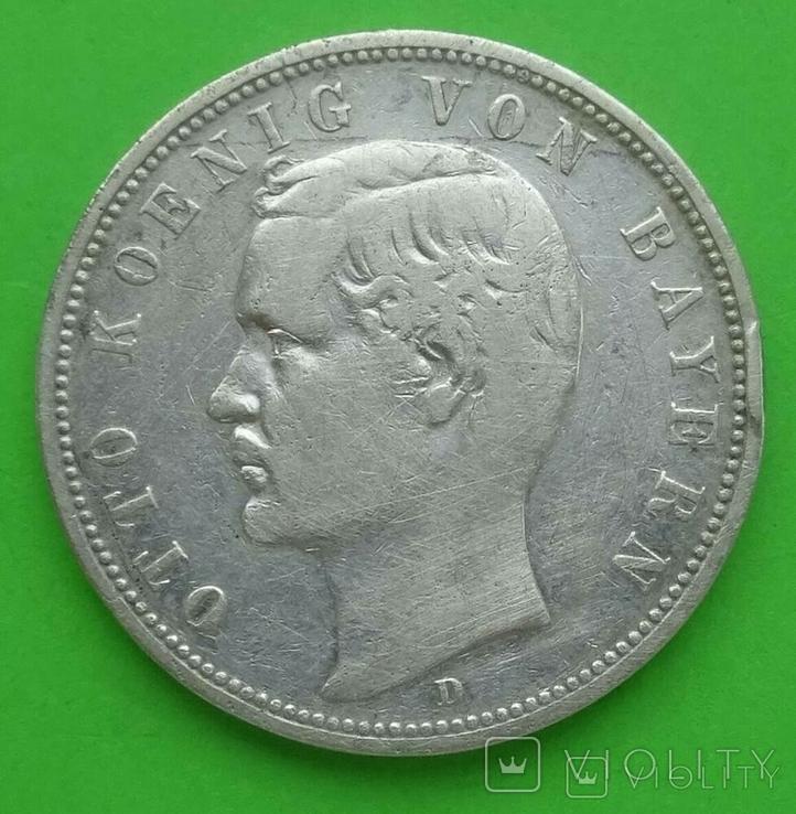 5 марок, Бавария (Германия), 1888 год., фото №2