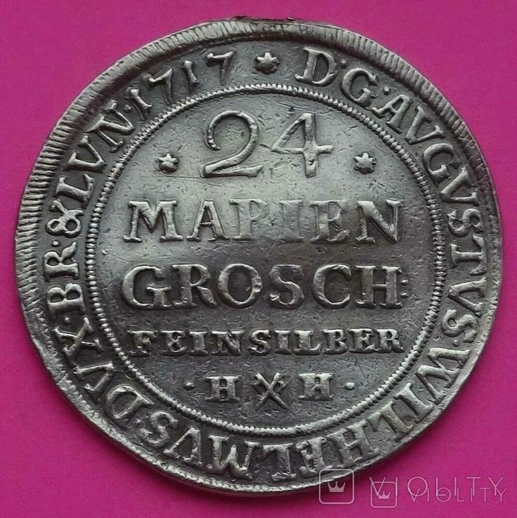 24 Мариенгрошен (2/3 талера), 1717 год, Браншвик - Волфебутел (Германия)., фото №11