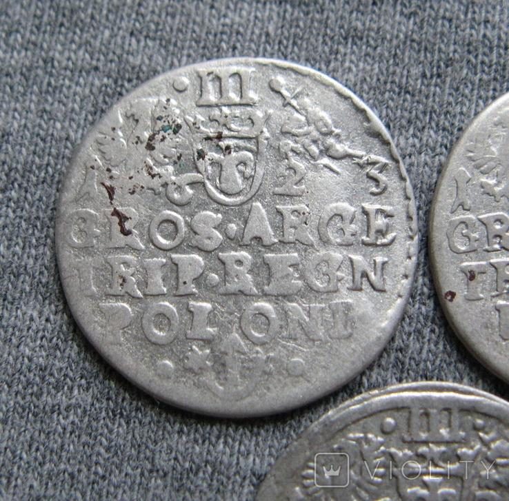 Трояки 1623 года. Сиг. ІІІ Ваза. Разновидности ( 3 штуки )., фото №10