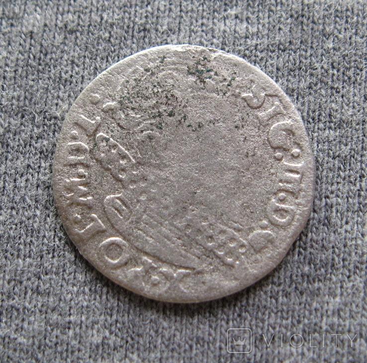 Аномальный трояк 1623 года. Сиг. ІІІ Ваза. Гетьманский трояк., фото №4